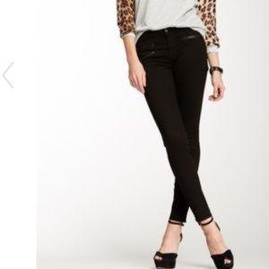 {J Brand} Zoey Triple Zipper Skinny Jeans in Jett
